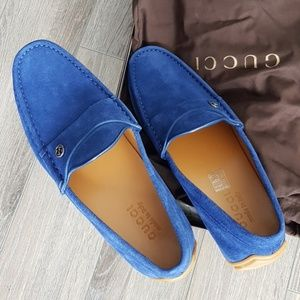 Gucci Mens Queen Suede Royal Loafers